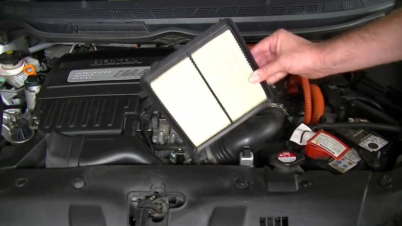 Honda Civic Hybrid 2008 Air Filter Change Youtube