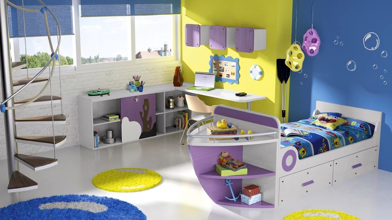 Dise os e ideas modernos para cuartos de ni os y ni as for Ideas para decorar dormitorios infantiles