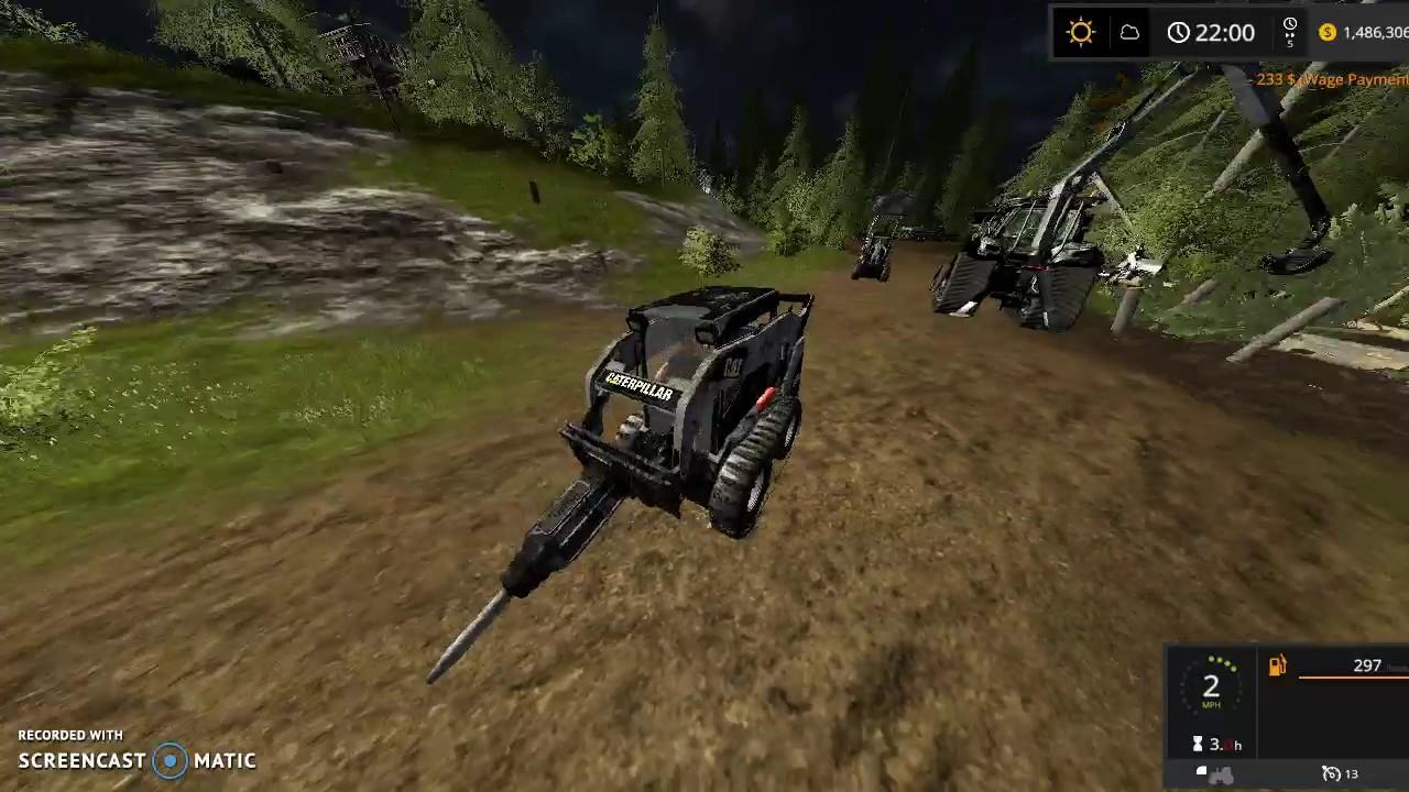 Farming Simulator 17 Kryptek CATERPILLAR 262B SKID STERR