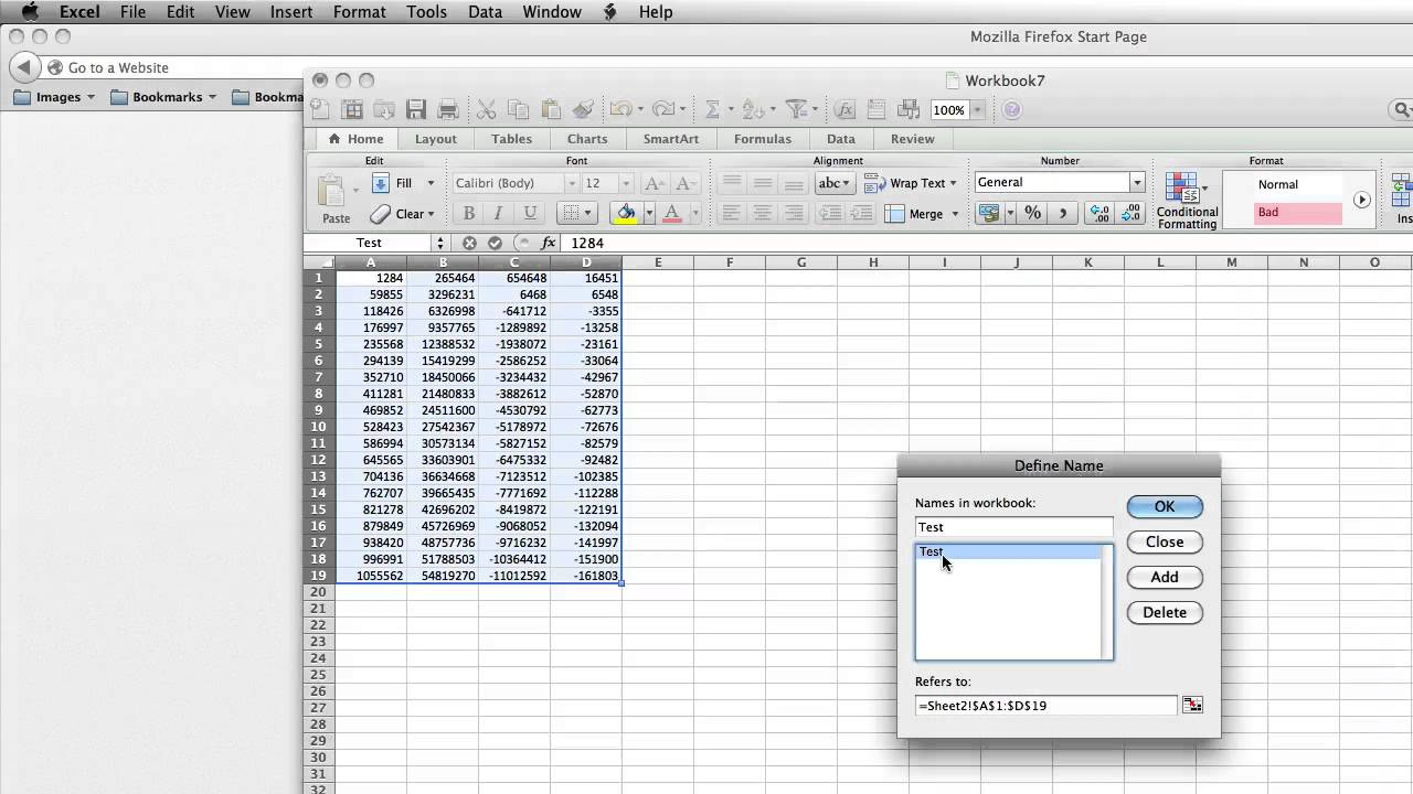 How To Change Excel Named Range