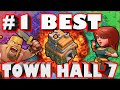 Clash of Clans - World's BEST Town Hall 7!? DONATION GOD + Trophy Push Master!