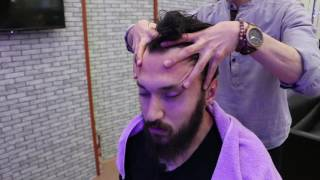 ASMR Turkish Barber Face,Head and Hand Massage 34