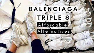 Balenciaga Triple S Affordable Alternatives On The High Street (Inc Sizing Info) Chunky Dad Trainers