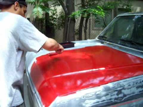 Rustoleum Paint Job >> A to Z $50 Rustoleum Regal Red Paint Job DAY5 Truck F150 1987 - YouTube