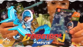 Banyaknya kad Boboiboy Galaxy Versi Boboiboy Movie 2