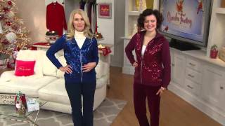 Quacker Factory Long Sleeve Zip Front Sequin Jacket with Jacque Gonzales