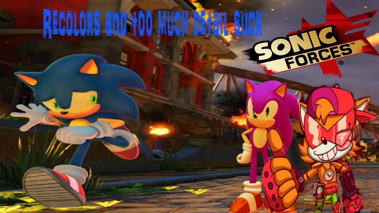 Sonic Forces Recolors Are Bad And Character Design Ocs Youtube