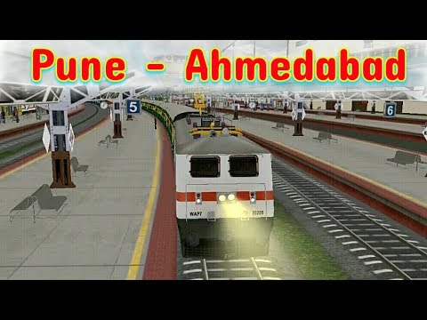Garib Rath Express driving from pune to ahmedabad | indian train simulator