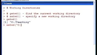 R Tutorials : Working Directories