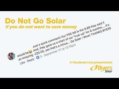 Do Not Go Solar if you do not want to save money