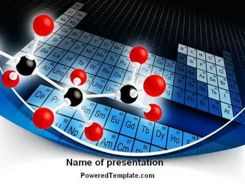 Periodic Table Of Chemical Elements Powerpoint Template By