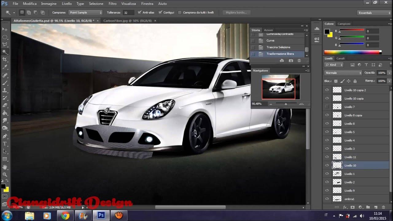 alfa romeo giulietta virtual tuning photoshop youtube. Black Bedroom Furniture Sets. Home Design Ideas