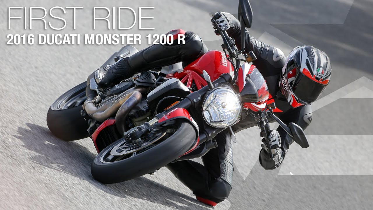 2016 Ducati Monster 1200 R First Ride Review - MotoUSA - YouTube
