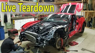Taking Apart Corvette Z06 LIVE Stream | Z06 Cold Start