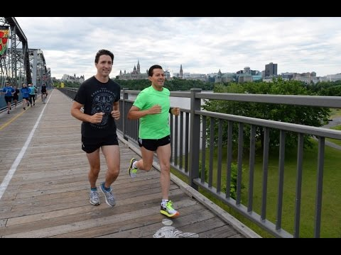 Trudeau and Pena Nieto : World leaders who run together...