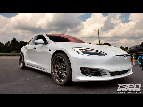 Gutted Tesla P100D Nearly Unstoppable at the Dragstrip!