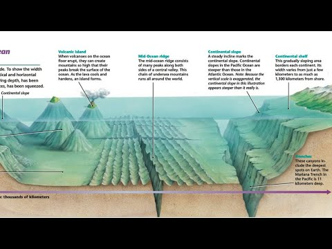 5.1 Mapping the Topography of the Ocean Floor; Underwater Volcanoes, Mountains and Valleys