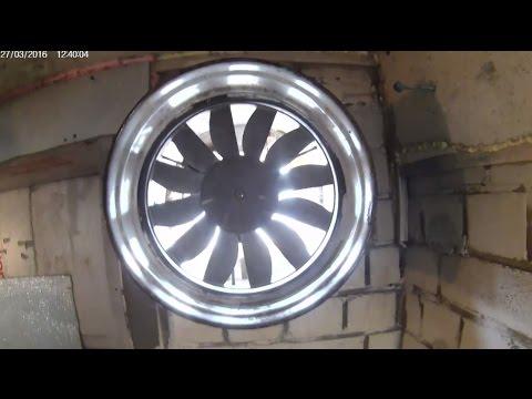 Коллайдер запущен!!! Испытания вентилятора для приточной вентиляции. Test Fan For Ventilation.