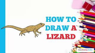 How to Draw a Lizard in a Few Easy Steps: Drawing Tutorial for Kids and Beginners
