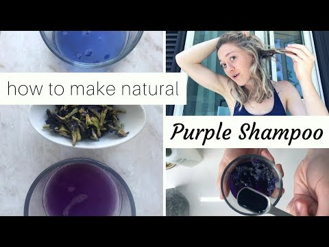 Diy Purple Shampoo Actually Natural Purple Toner For