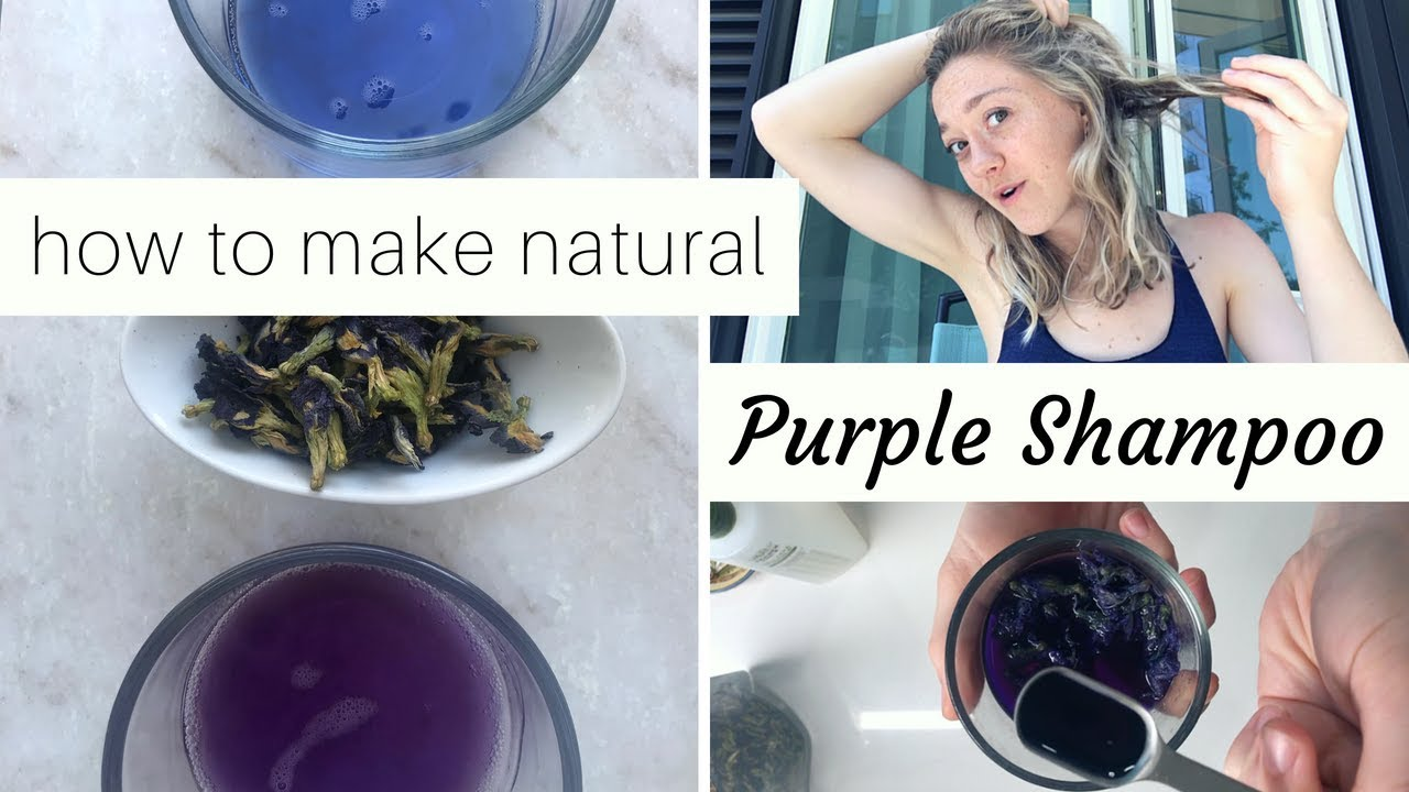 Diy Purple Shampoo Actually Natural Purple Toner For Cool Blonde Hair