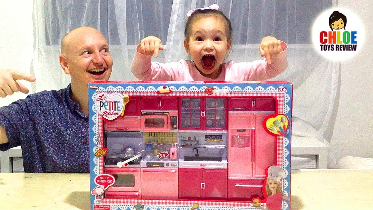 Le Petite Kitchen Electronic Mini Playset For Kids Learning Appliances  Names 🍳 Chloe ToysReview