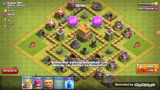 Clash of clans/ KB6 ya bastım ve Kendi Klanimiz ismi -Y- Youtube