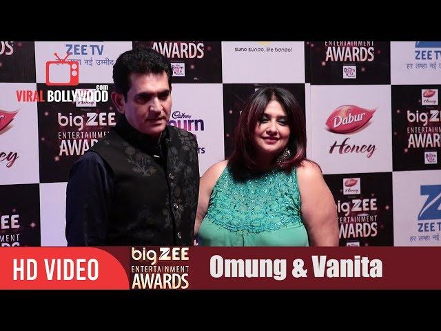 Omung Kumar with wife Vanita Omung Kumar at Big Zee Entertainment Awards 2017 | #BigZeeAwards