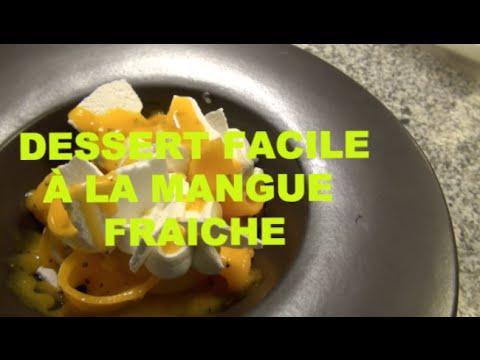 mangue-:dessert-léger-et-facile-à-la-mangue-fraiche