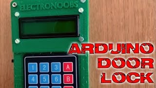Door lock keypad and bluetooth Arduino tutorial
