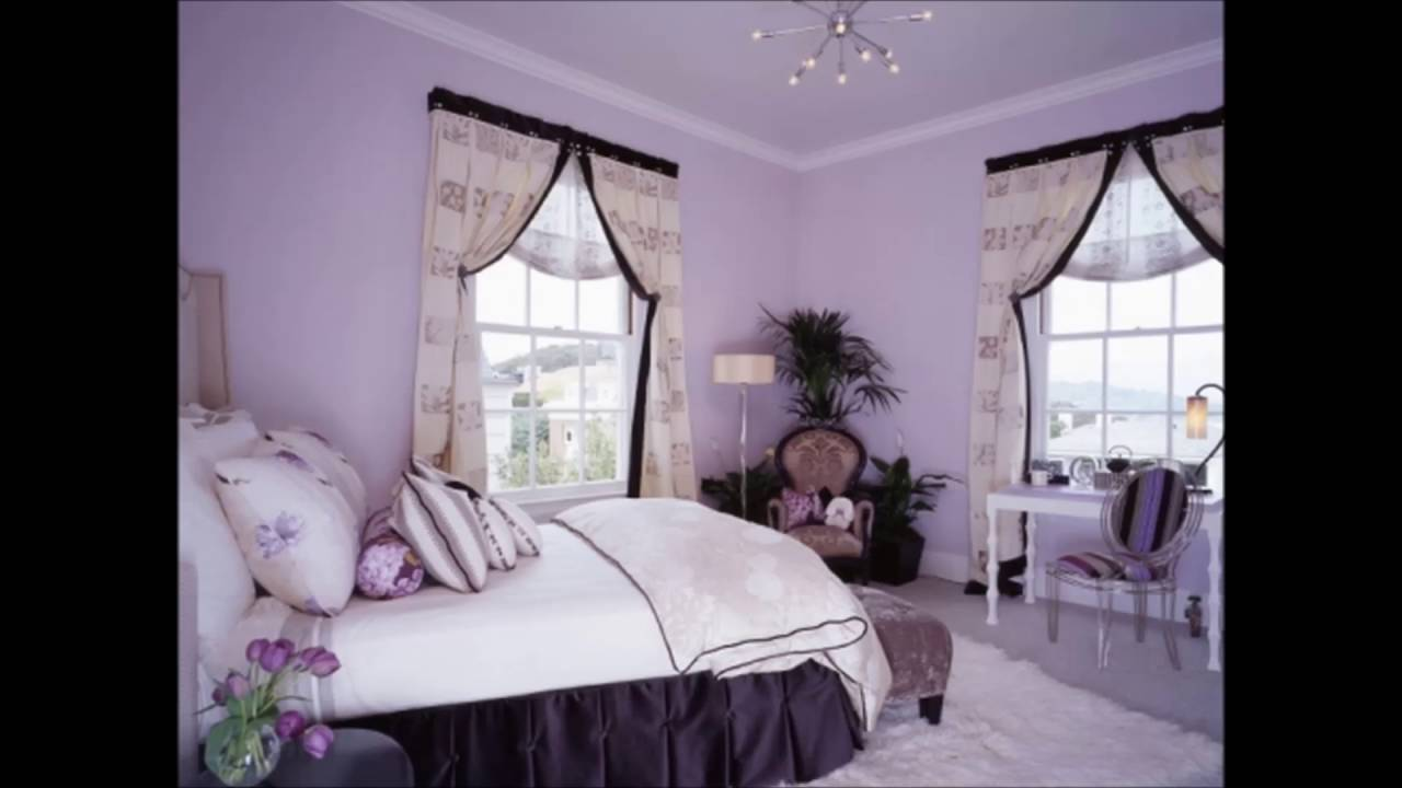 home decorating purple curtain bed sheet ideas - youtube