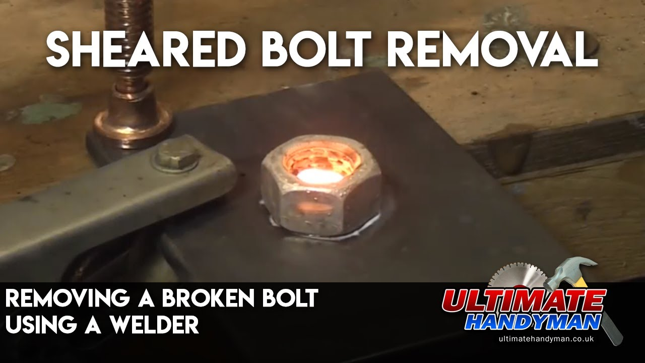 Broken Bolt Removal >> Removing a broken bolt using a welder - YouTube