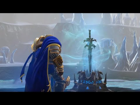 Arthas takes up Frostmourne and kills Mal'ganis (Reforged)