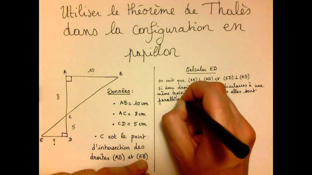 Utiliser le théorème de Thalès dans la configuration en ...
