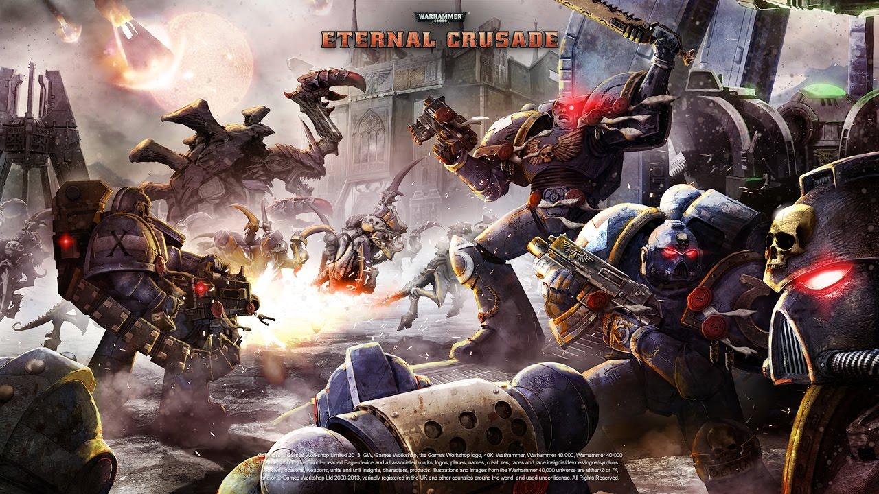 Warhammer 40K: Eternal Crusade - Chaos Assault Marine Gameplay .