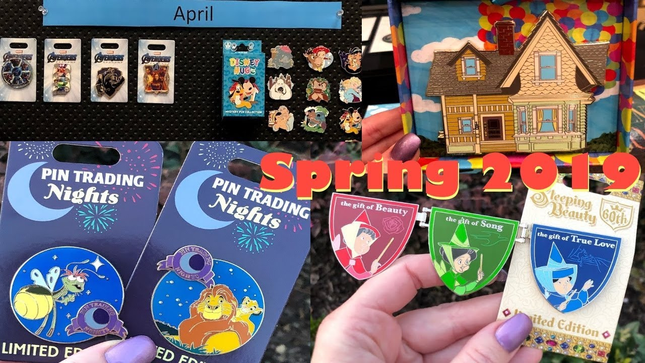 2019 Disney Pin Preview [March, April, May] - YouTube