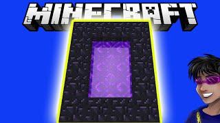 МАЙНКРАФТ КАК ПОСТРОИТЬ ПОРТАЛ В НЕЗЕР БЕЗ АЛМАЗНОЙ КИРКИ | Minecraft Лайфхак 010