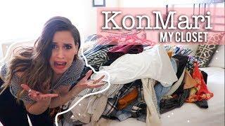 KonMari My Cluttered Closet!