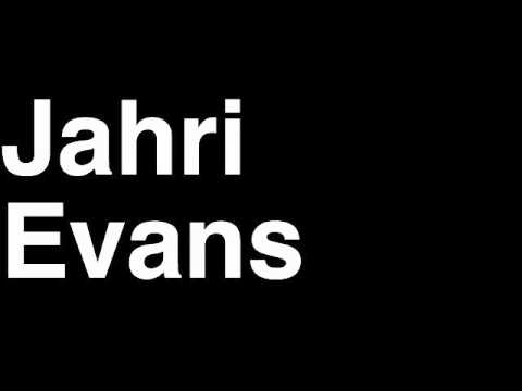How to Pronounce Jahri Evans New Orleans Saints NFL Football Touchdown TD Tackle Hit Yard Run