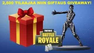 FORTNITE SUOMI LIVE! 2500 SUBSCRIBERS AS A GIFTAUS GIVEAWAY! + 674 WINS!