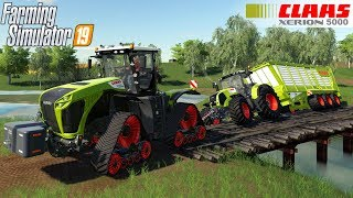 Farming Simulator 19 - CLAAS XERION 4000-5000 TERA TRAC Pulls out a Tractor