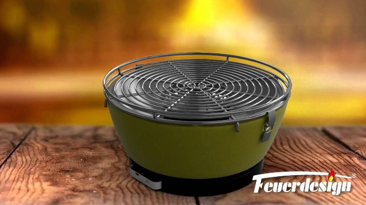Quigg Holzkohlegrill Test : Feuerdesign® vesuvio produkt animation youtube
