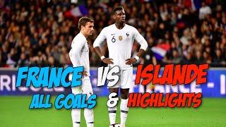 France vs Islande 2-2 All Goals & Highlights