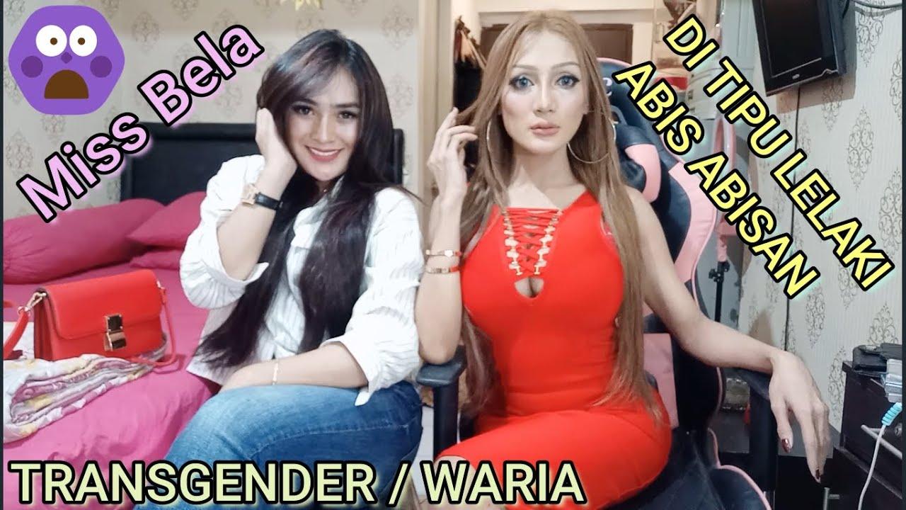 Miss Bela Transgender / Bencong / Waria Cantik Bandung Di Tipu Habis Habisan Oleh Seorang Laki Laki