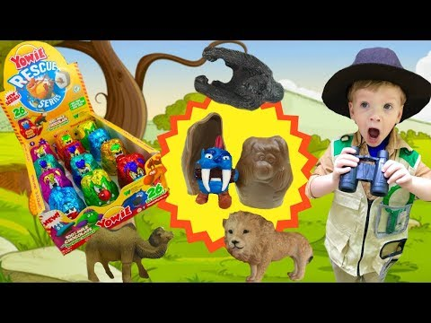 Yowie Series 3 Rescue Series Unboxing Full Case of Wild Animals | Fizzy Toy Show