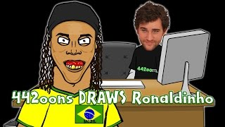 442oons Draws Ronaldinho! (Football Parody Caricature Cartoon)