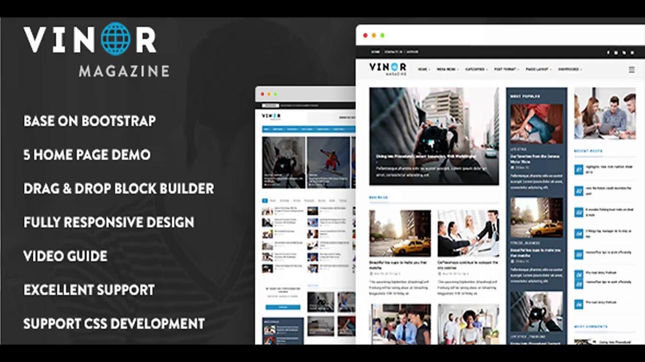 Vinor Magazine Responsive Magazine News Drupal 85 Theme