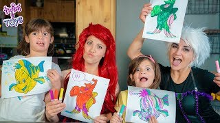 Ariel and Ursula's 3 Marker Challenge!!