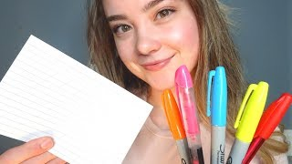 ASMR TEACHER ROLE PLAY! Helping You With Test Anxiety, Reading To You, Writing Sounds, Page Flipping
