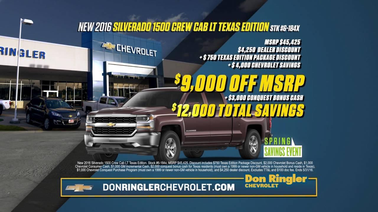 Don ringler chevrolet spring sales event